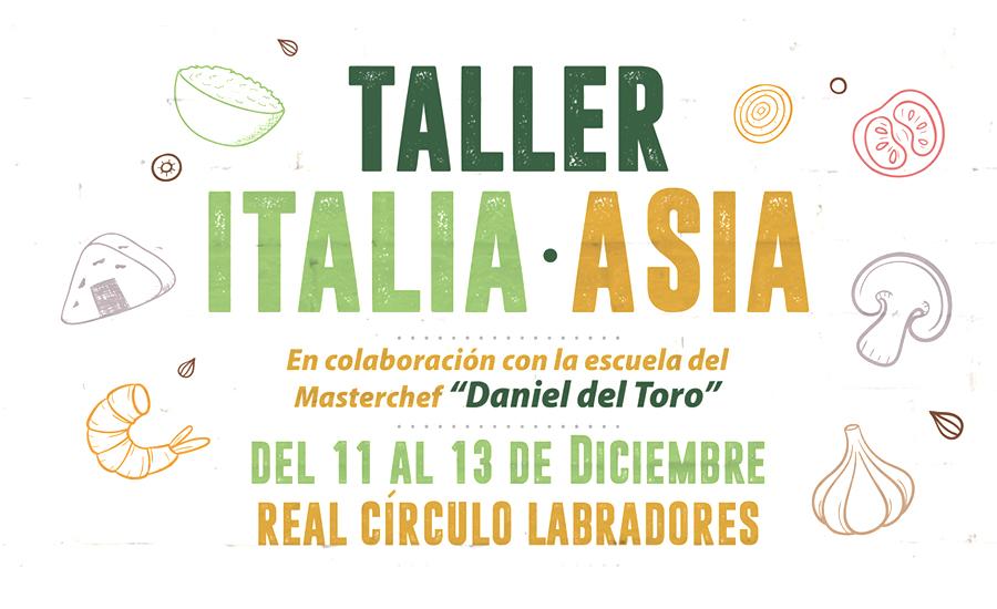 Taller gastronómico 'Italia – Asia' en Instalaciones Deportivas