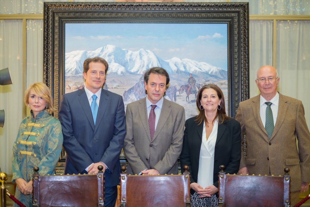 Presentado el lienzo 'Mannerheim' de Ferrer-Dalmau en Pedro Caravaca